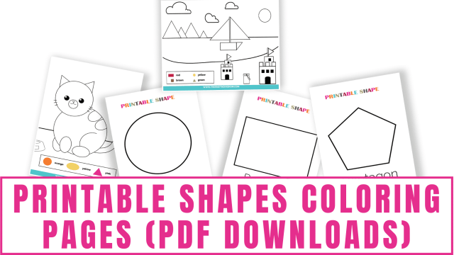 Printable Shapes Coloring Pages (PDFs) - Freebie Finding Mom