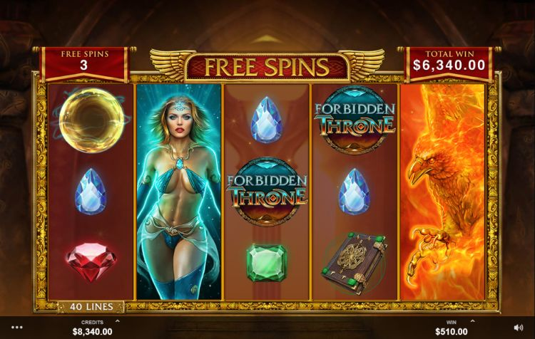 Forbidden throne microgaming bonus round