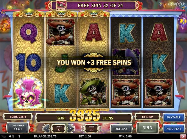 Grim Muerto slot bonus