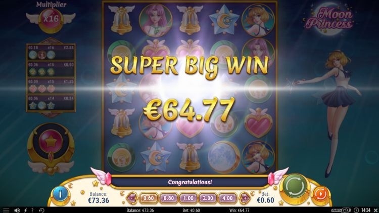 Moon princess super big win