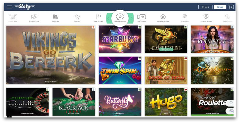 Sloty casino review