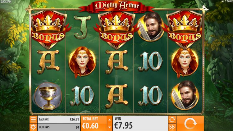 Mighty Arthur Slot quickspin free spins bonus trigger