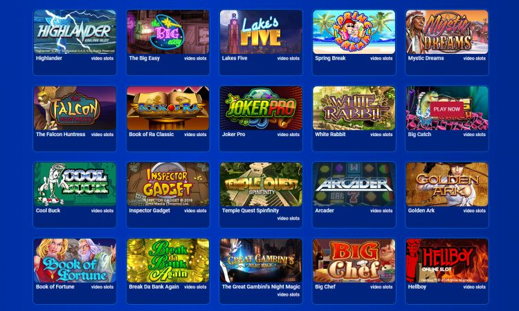 All British Casino review games selection