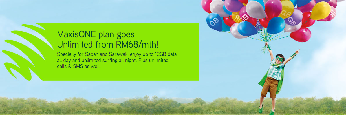 Maxis RM68 Plan with 5GB Data and Unlimited Calls