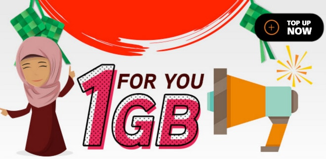 Hotlink FREE 1GB - Top Up Promotion with Maybank2u