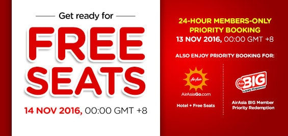AirAsia Free Seat November