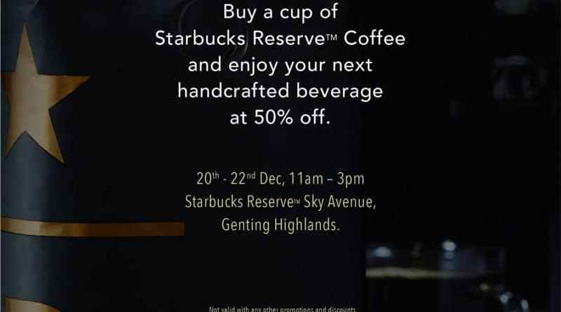 Starbucks 50% OFF - Opening of Second Starbucks at Sky Avenue