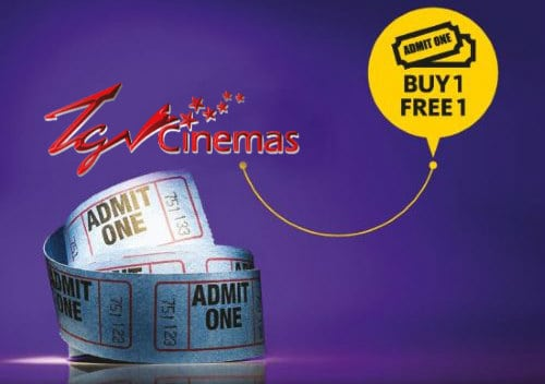 TGV BUY One FREE One Movie Ticket 2017 by Maybank