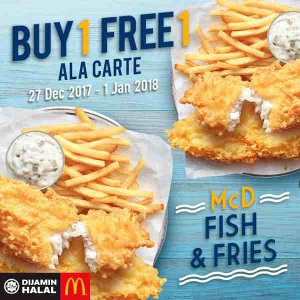 McD Fish & Fries Buy 1 Free 1