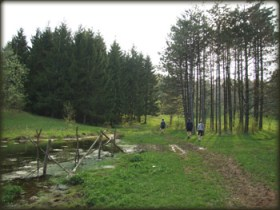 Pored izvora nadomak Javorka (skrenite levo sa puta ka Grzi)