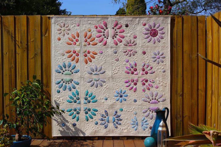 Divided Blooms Quilt