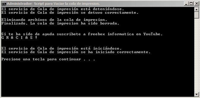 Eliminar cola de impresion en windows 10