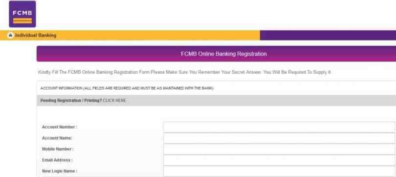 fcmb online banking