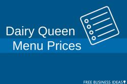 dairy queen menu prices