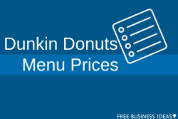 dunkin donuts menu with prices