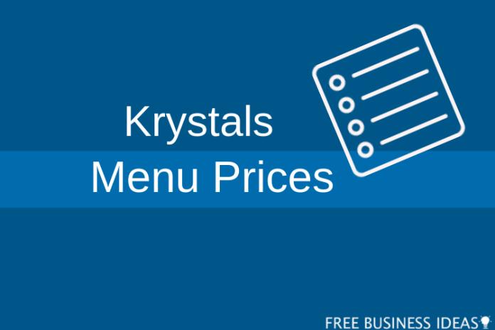 krystal menu prices