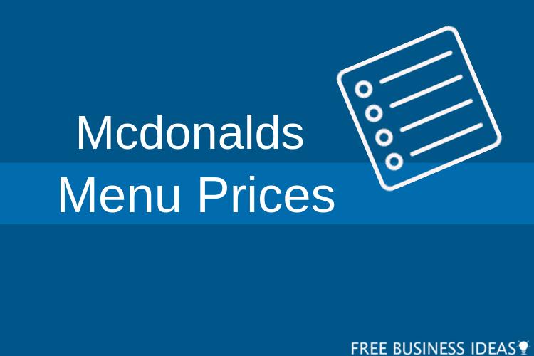 mcdonalds menu prices