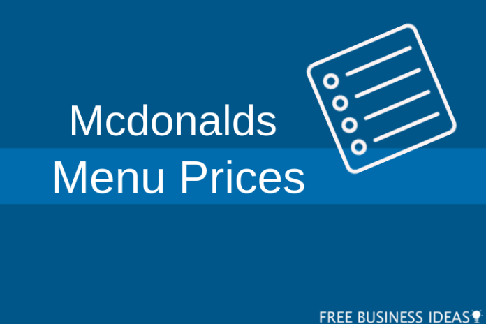 mcdonalds menu prices