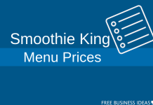 smoothie king menu prices