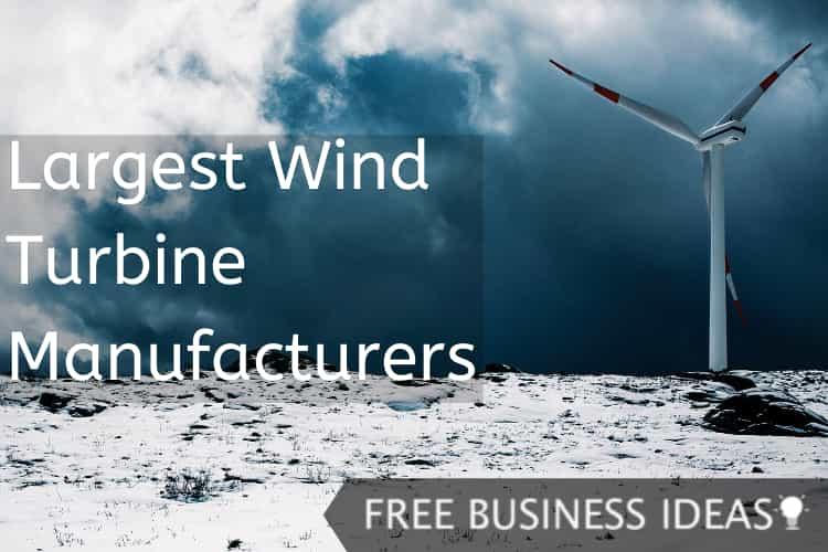 largest wind turbine manufacturers