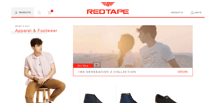 red tape shoes in india