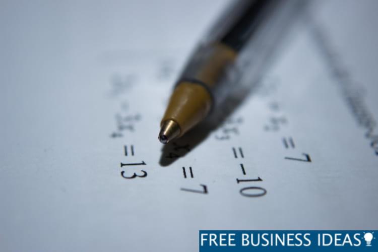 Math And Accounts Homework Paper