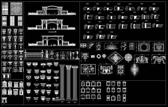 Architectural decorative blocks