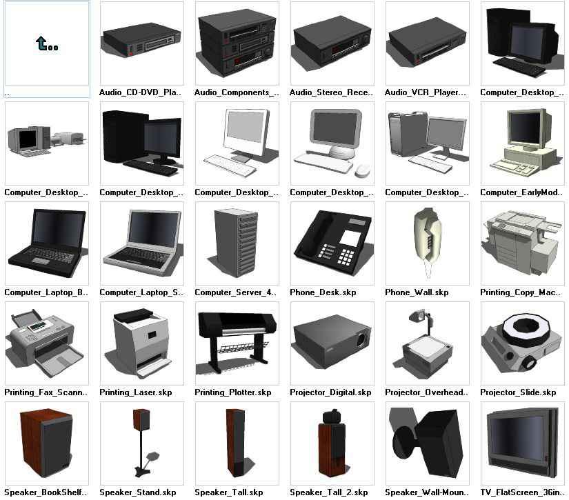 Sketchup Electronics 3D models download – Free Cad Download