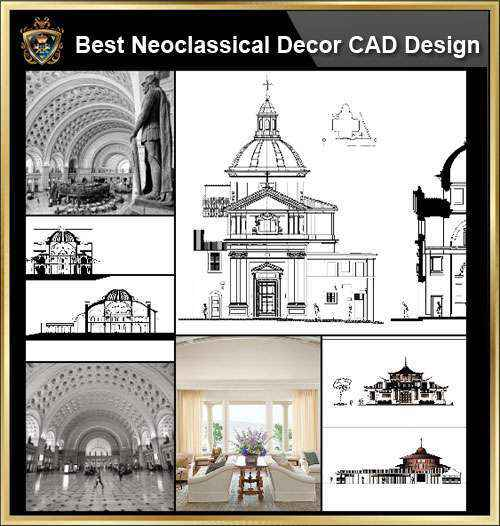 ★【Neoclassical Style Decor CAD Design Elements Collection】Neoclassical  interior, Home decor,Traditional home decorating,Decoration@Autocad ...