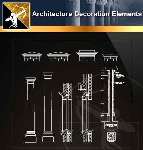 ☆【 Free Architecture Decoration Elements V 17】@Autocad