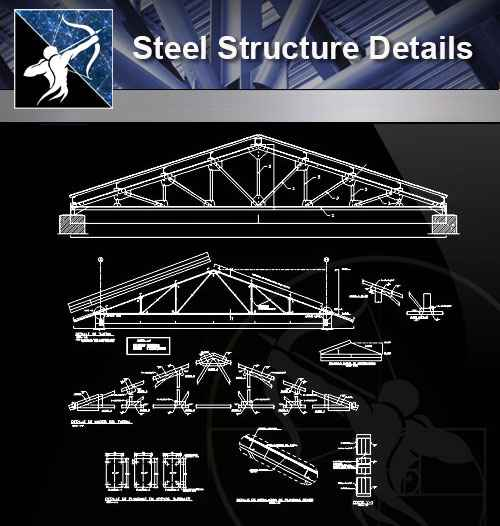 Steel Roof Truss Autocad Drawings Free Download