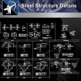 Steel Structure Details – Free Cad Download Center