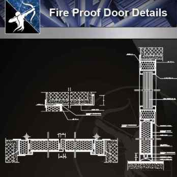 【Architecture CAD Details Collections】Fire Proof Door CAD Details
