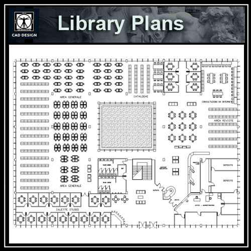 Library blocks and plans - Free CAD Download World-Download CAD Drawings