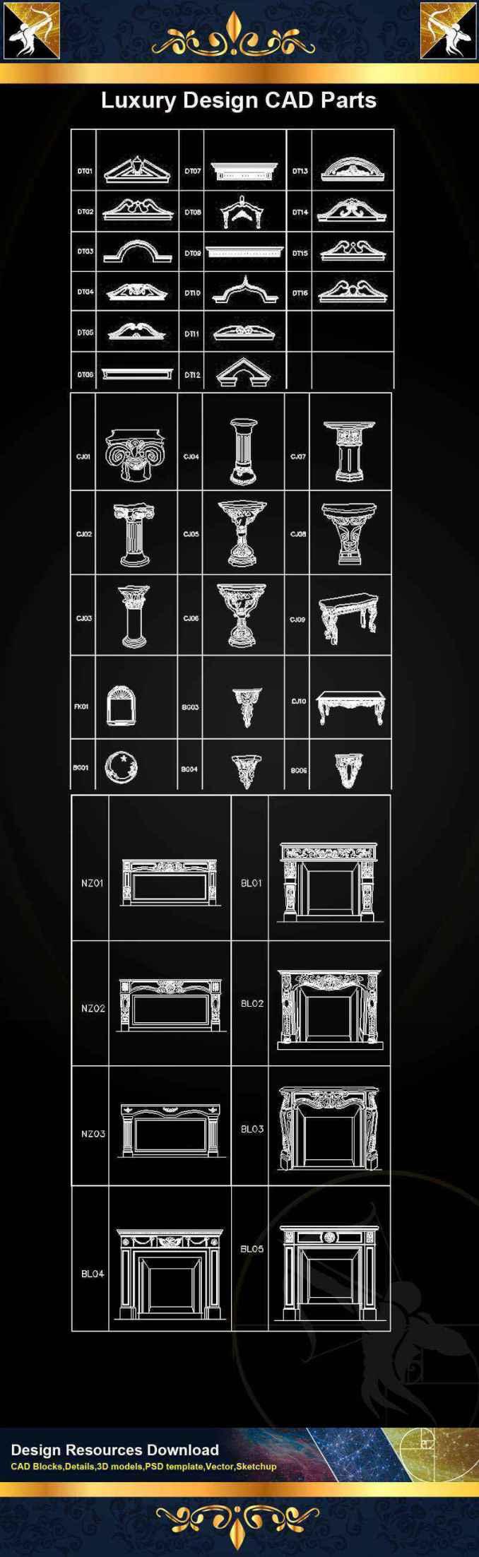 ★【Architecture Decoration Design Element CAD Blocks V 6】@Autocad Decoration  Blocks,Drawings,CAD Details,Elevation