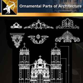 ★【Ornamental Parts of Architecture -Decoration Element CAD Blocks V.6】@Autocad Decoration Blocks,Drawings,CAD Details,Elevation
