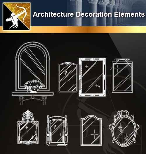 ☆【 Free Architecture Decoration Elements V 5】@Autocad Decoration