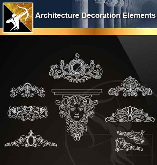 ☆【 Free Architecture Decoration Elements V 9】@Autocad