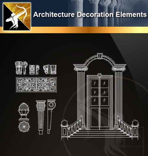 ☆【 Free Architecture Decoration Elements V 18】@Autocad Decoration