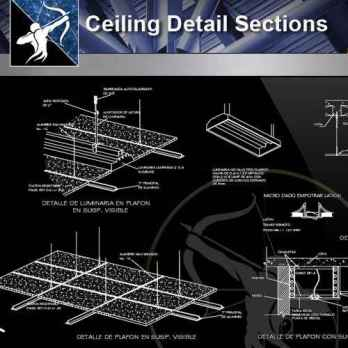 【Architecture CAD Details Collections】Ceiling Detail Sections drawing