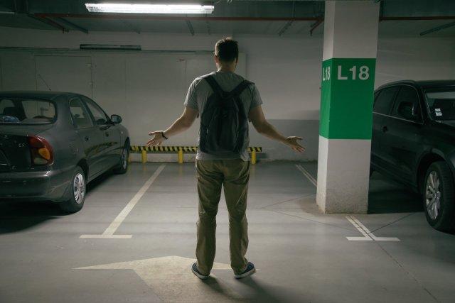 stolen car park space