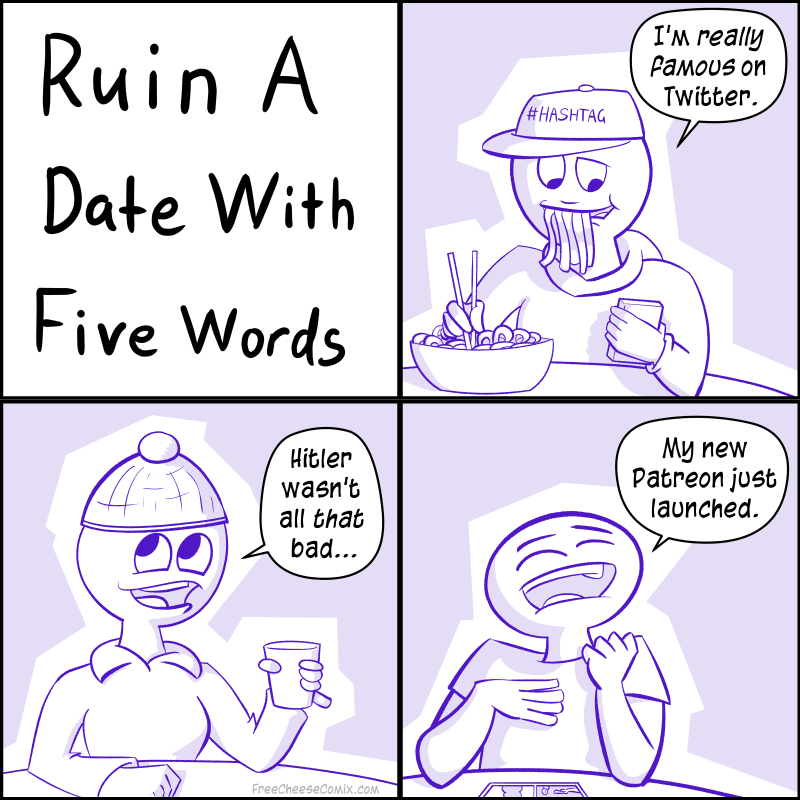 Ruin A Date In Five Words