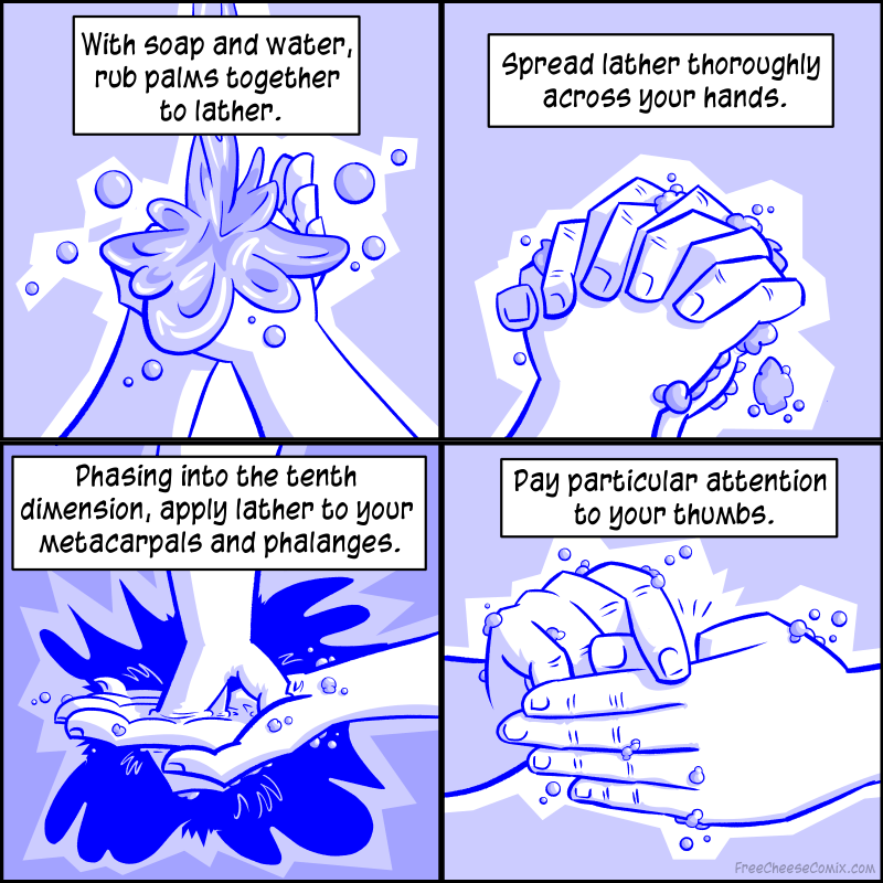 Clean Your Hands In Four Simple Steps