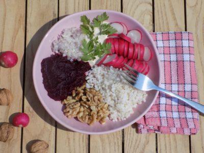 salade de riz sans produits laitiers