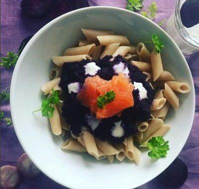 sans gluten ni produits laitiers : pates saumon