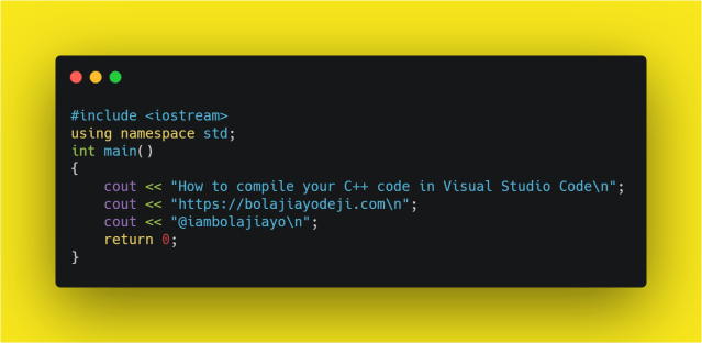How to compile your C++ code in Visual Studio Code