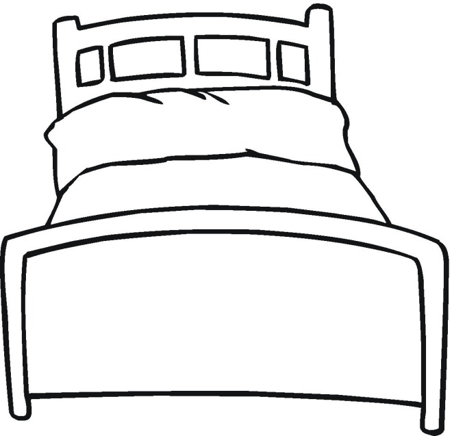 picture of a bed colouring