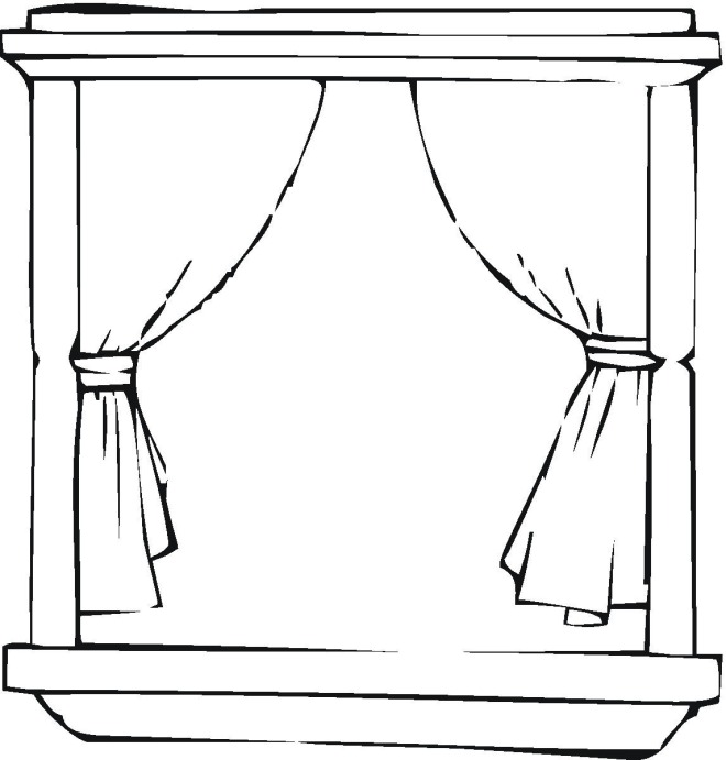 window colouring pages