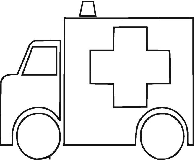 ambulances colouring pages