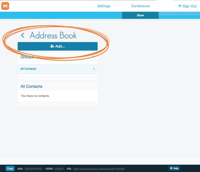 address book circled